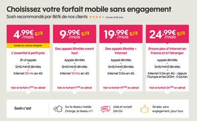 Code de reduction sosh mobile